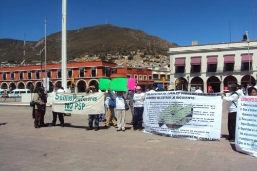 Manifestación en Pachuca, Hidalgo